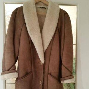 Vintage Sheepskin Winter Coat